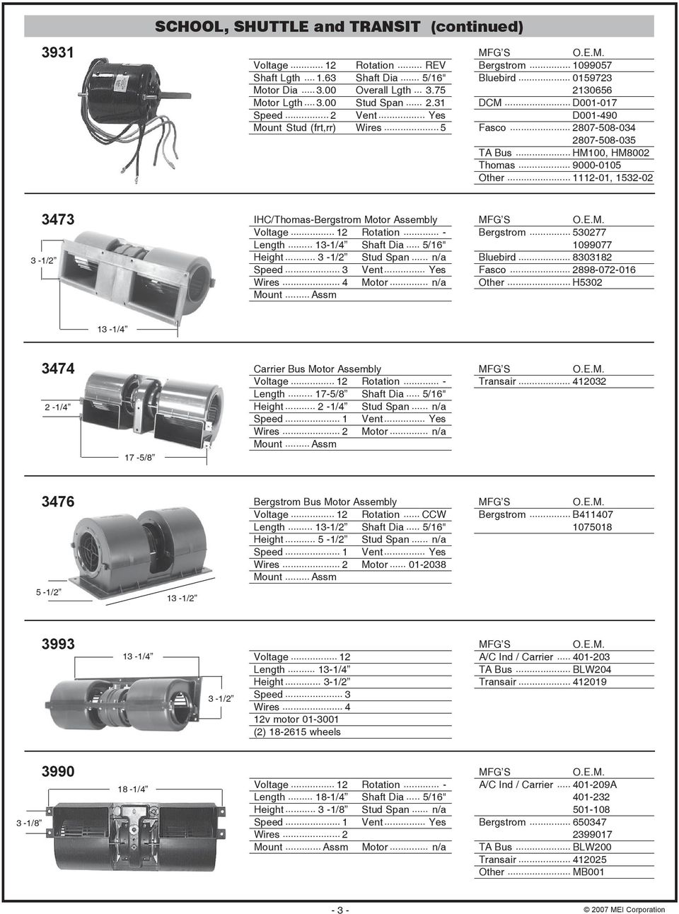 BUS BLOWER MOTORS AND FANS - PDF on