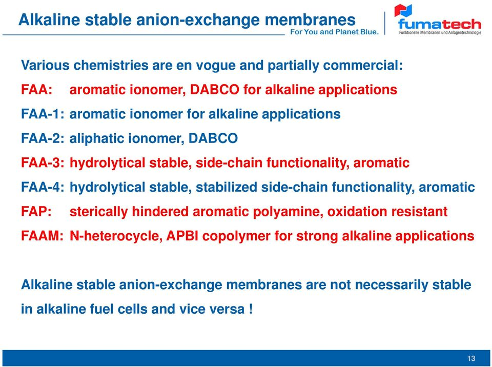 Anion-Exchange Membranes with Improved Stability for Energy