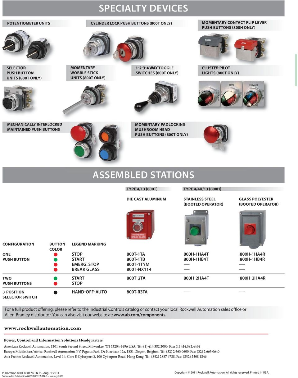 305 Mm 800t H Specialty Devices Imitated But Never Duplicated 3 Way Switch Push Button Proven A Legacy Of Leadership Momentary Wobble Stick Selector 1 2 4 Toggle Switches