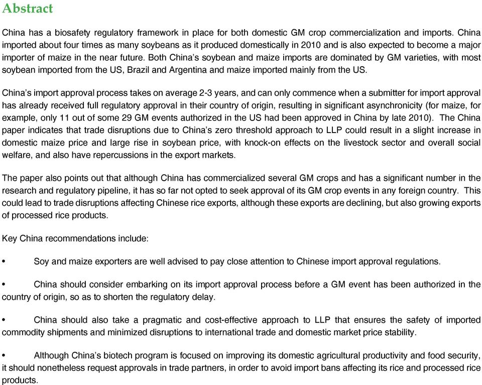 China s Agricultural Biotechnology Regulations Export and Import