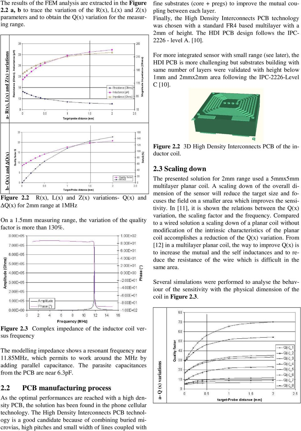 Eddy Current Sensors On Printed Circuit Board For Compact Mount 4 Layers Fr4 Timer Pcb Boards Design Of Hdi Finally The High Density Interconnects Technology Was Chosen With A Standard Based Multilayer