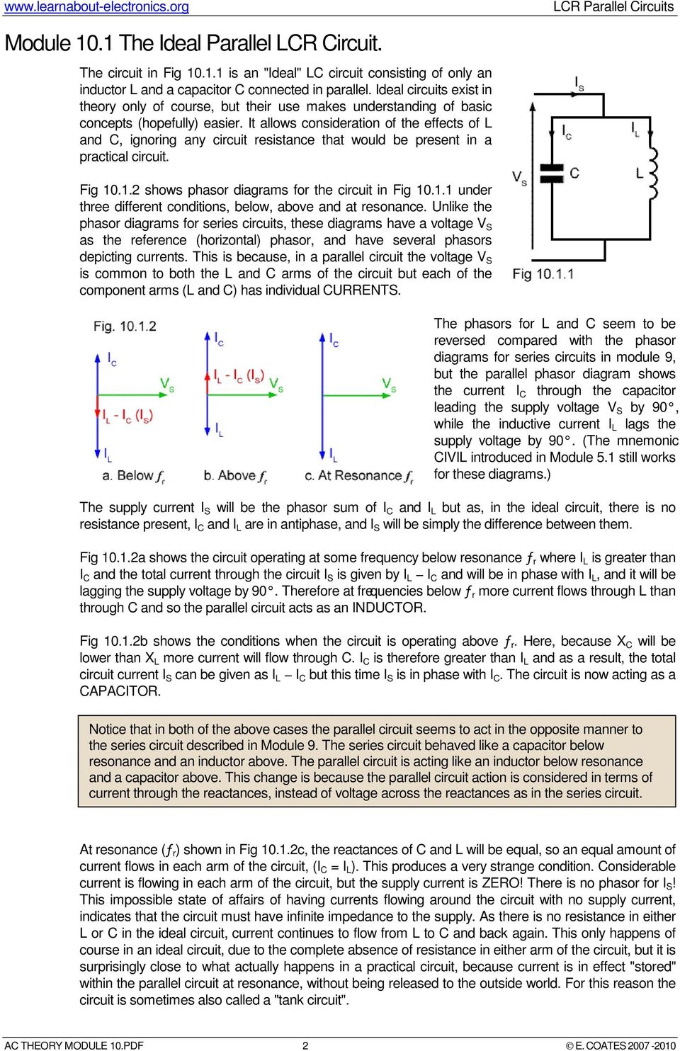 Lcr Parallel Circuits Pdf Ac Circuit Inductance And Capacitance In Series It Allows Consideration Of The Effects L C Ignoring Any Resistance That