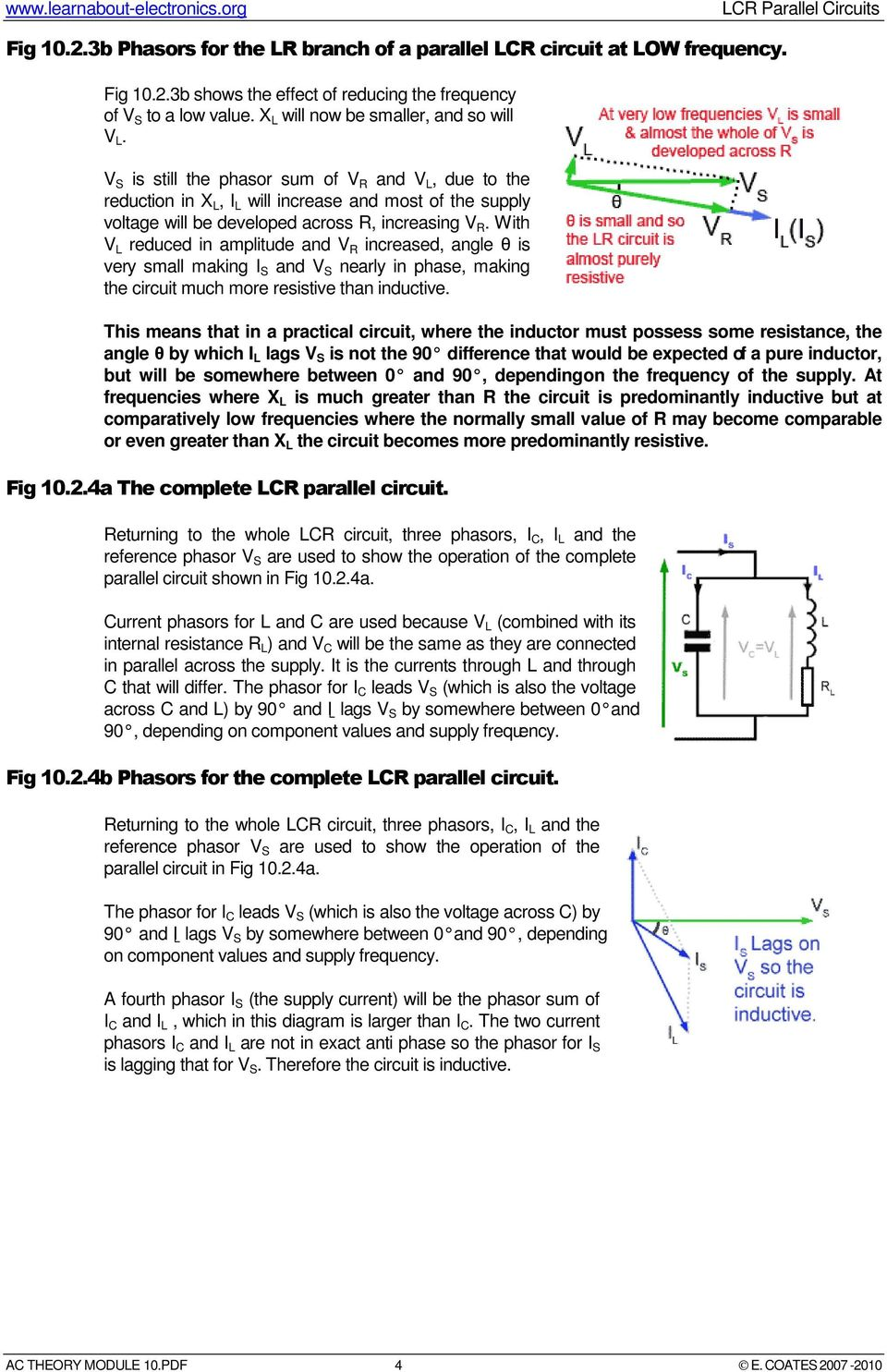 Lcr Parallel Circuits Pdf Currents In Rc And Rl With Increasing Frequency V S Is Still The Phasor Sum Of R L Due To Reduction
