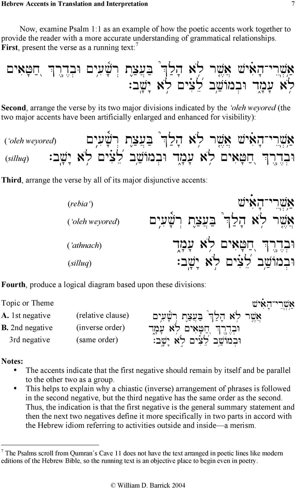 The Masoretic Hebrew Accents in Translation and