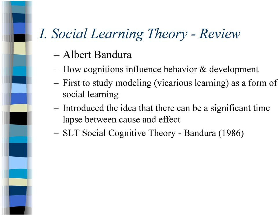 an overview of social learning theory  slt  karen j