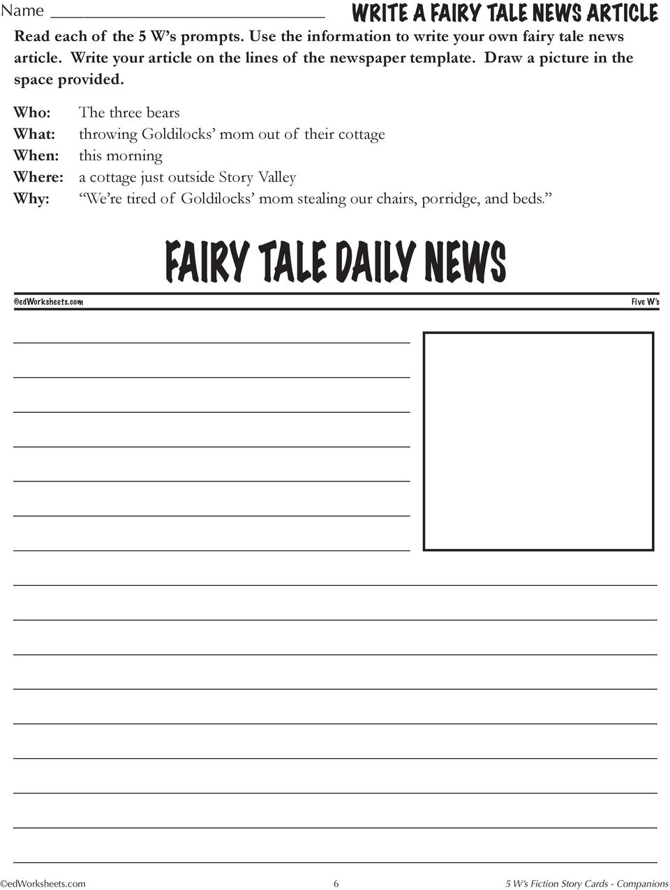 5 W S Daily News Story Title Reading Level Word Count Pdf