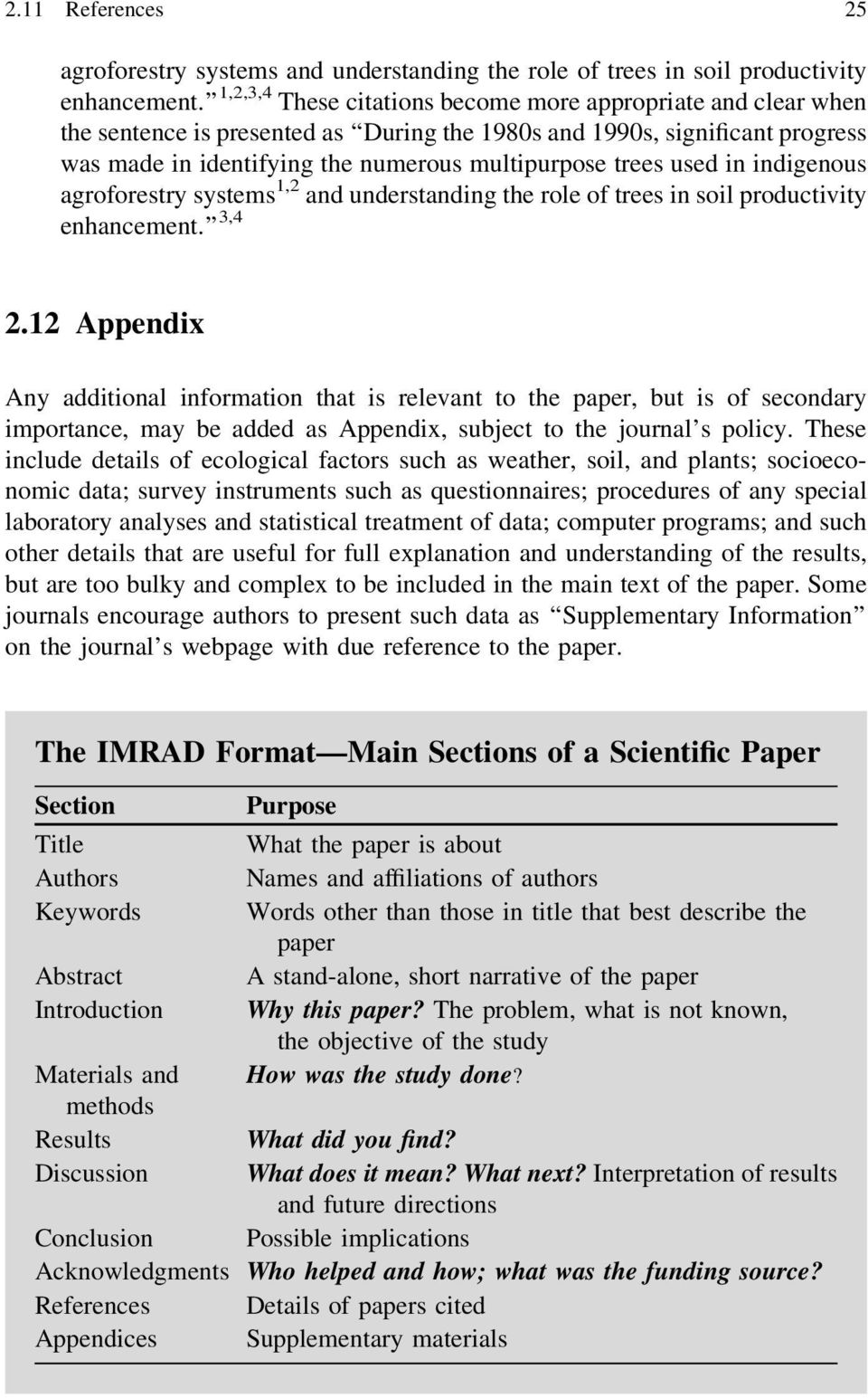 organization of a research paper the imrad format