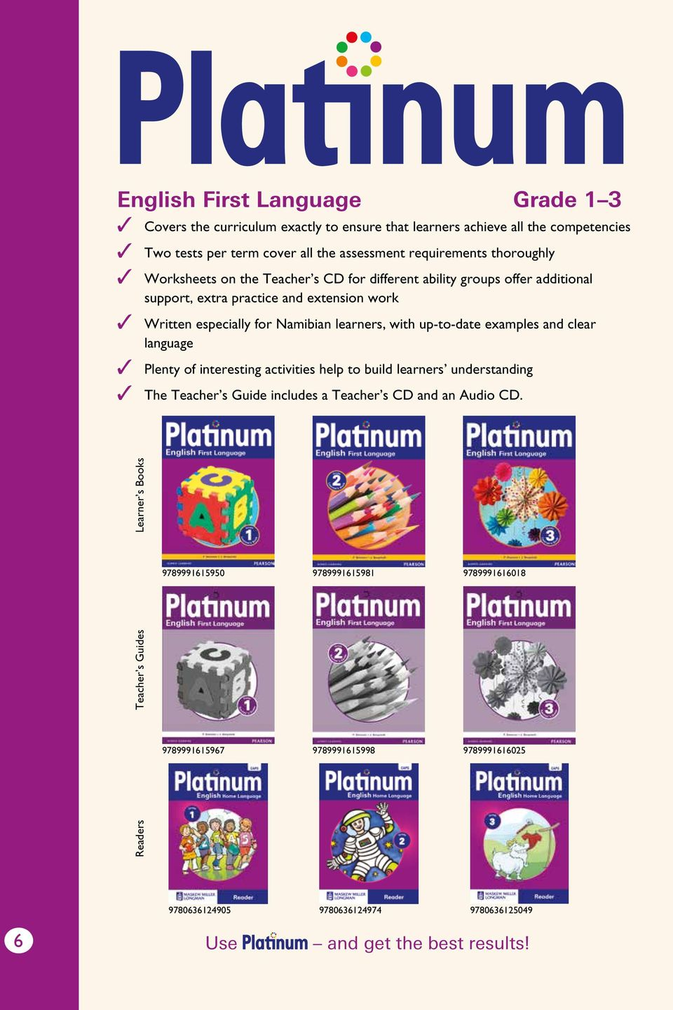 with up-to-date examples and clear language Plenty of interesting  activities help to. 8 The promise Platinum makes learning ...