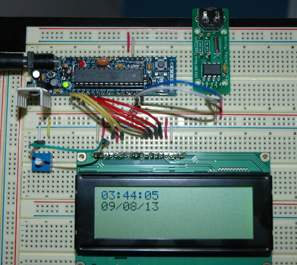 Add A Ds1307 Rtc Clock To Your Avr Microcontroller Pdf Digital Using 8051 With Dc Boarduino 328 A4 Pc4 A5 Pc5 Module Sda Scl