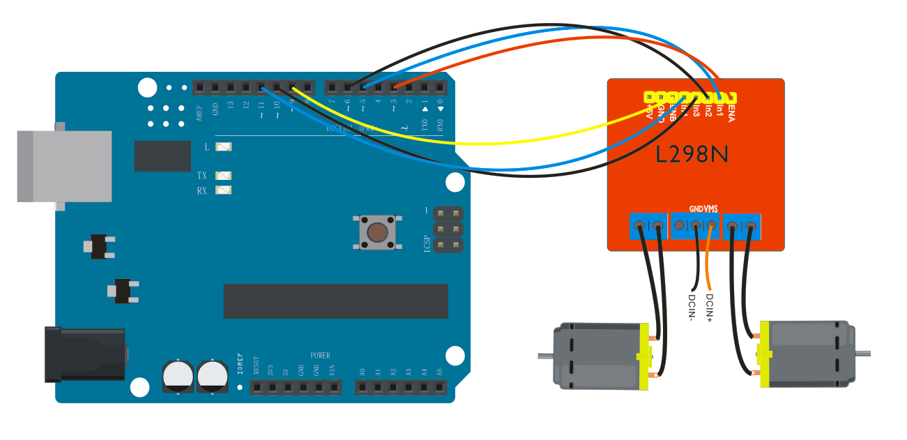 Bluetooth Multi Functional Smart Car Manual For Arduino Pdf Transformer Diagram Obstacle Avoidance Robot Circuit The Three Pins Between Each Terminal Are Used To Control Dual Dc Motor Ea