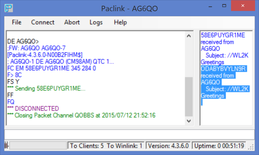 Amateur radio mail bbs winlink and nts pdf paclinkthunderbird configuration 7 go to paclink and with your radiotnc m4hsunfo