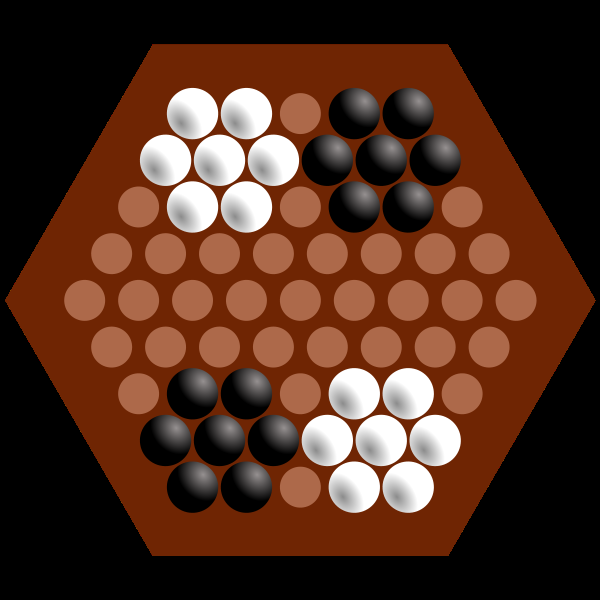 Figure 2.1: Standard position Figure 2.2: Belgian Daisy position Independent from whether an inline move or a broadside move is performed the player may only move the marbles one field further.