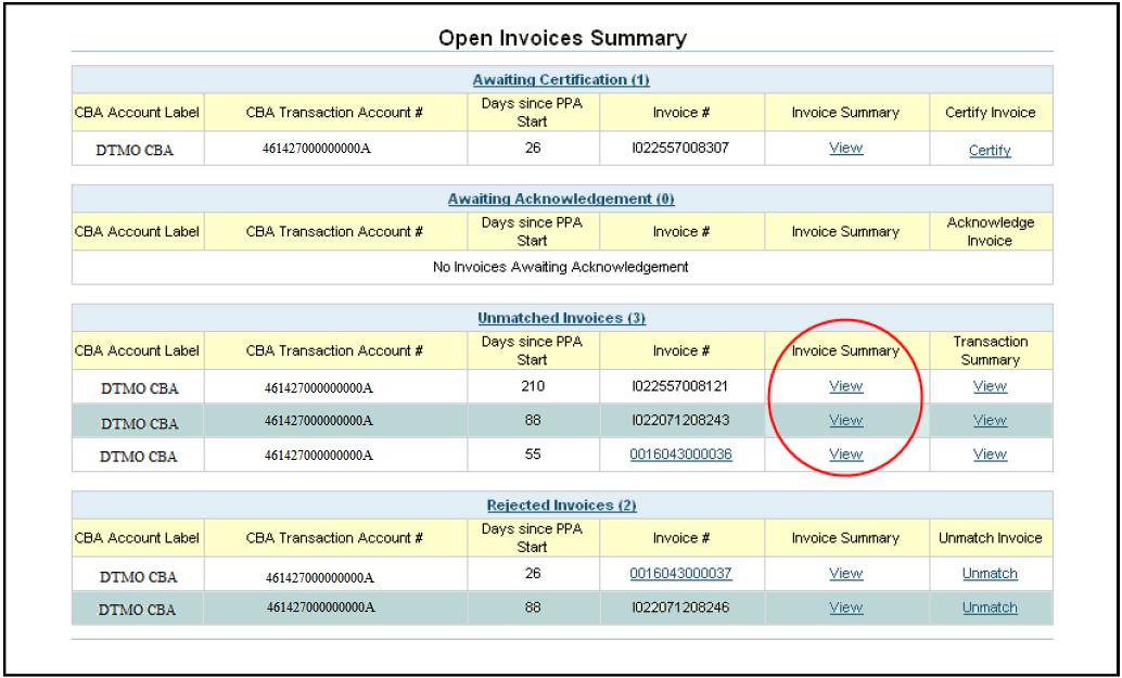 Centrally Billed Account Reconciliation Manual PDF - Open invoice login