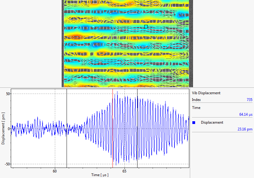 Application: Wave Propagation Arrival of Vertical Wave (18 ms