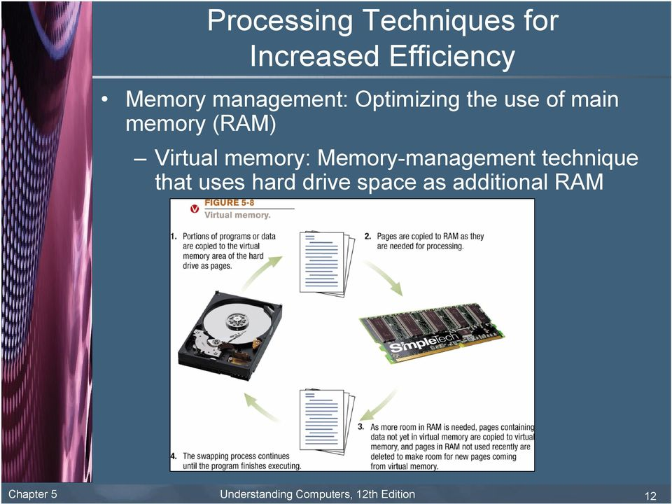 memory: Memory-management technique that uses hard drive
