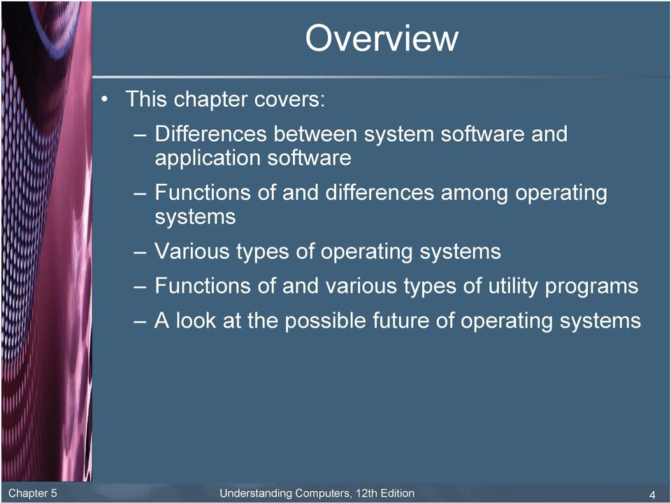operating systems Functions of and various types of utility programs A look at the