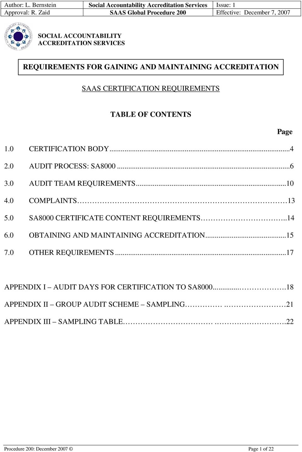 Requirements For Gaining And Maintaining Accreditation Saas