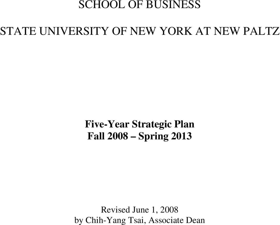 PALTZ Five-Year Strategic Plan