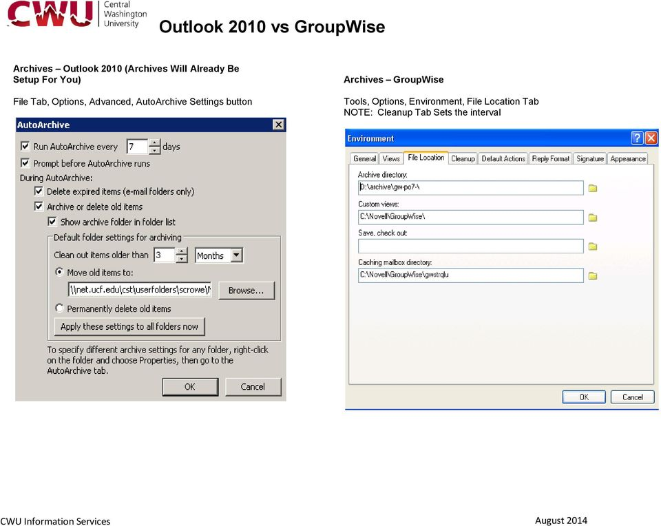 Settings button Archives GroupWise Tools, Options,