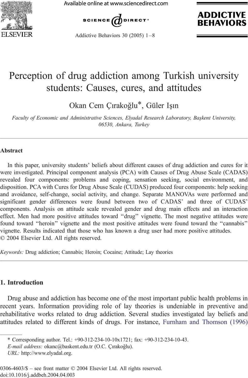 introduction of drug addiction