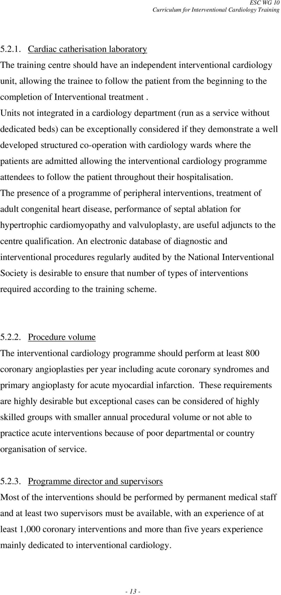 AND SYLLABUS FOR INTERVENTIONAL CARDIOLOGY SUBSPECIALITY