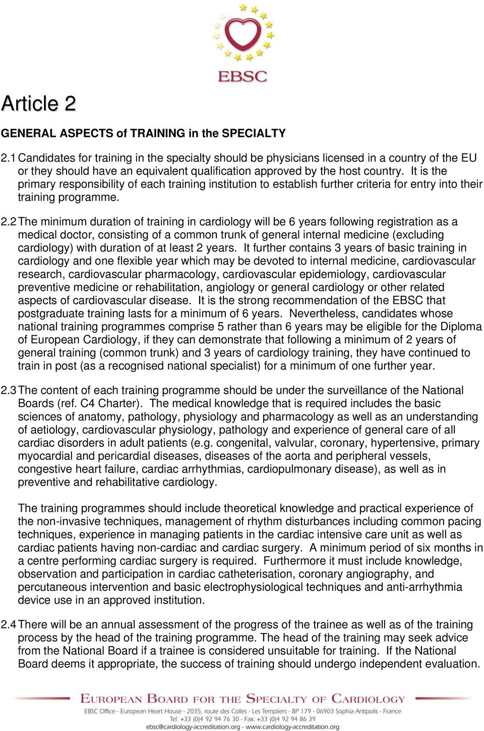 CENTRAL MONITORING AUTHORITY for CARDIOLOGY at EU LEVEL - PDF