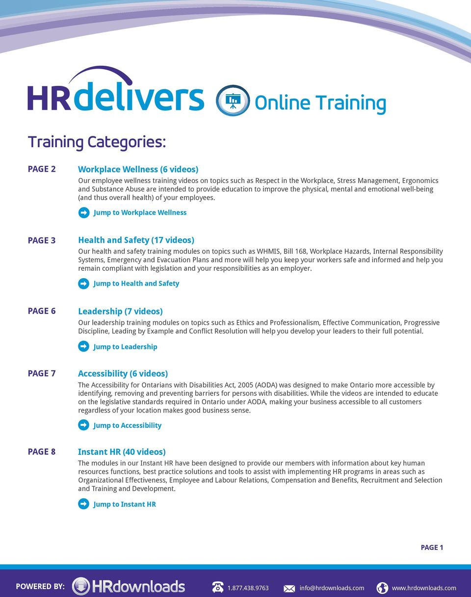 Online Training  Training Categories: Page 2  Workplace