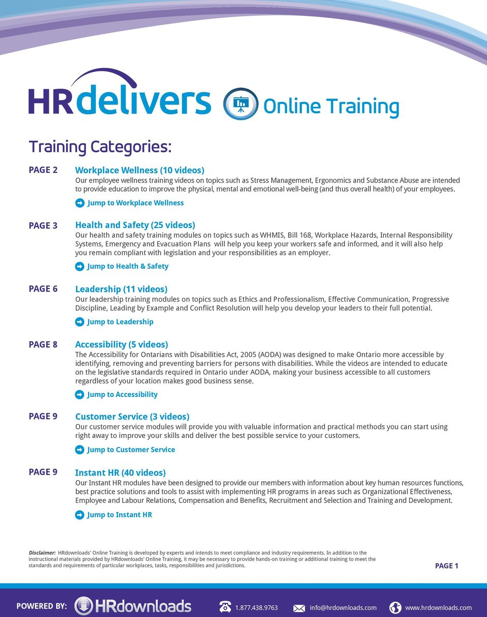Online Training  Training Categories: PAGE 2 - PDF