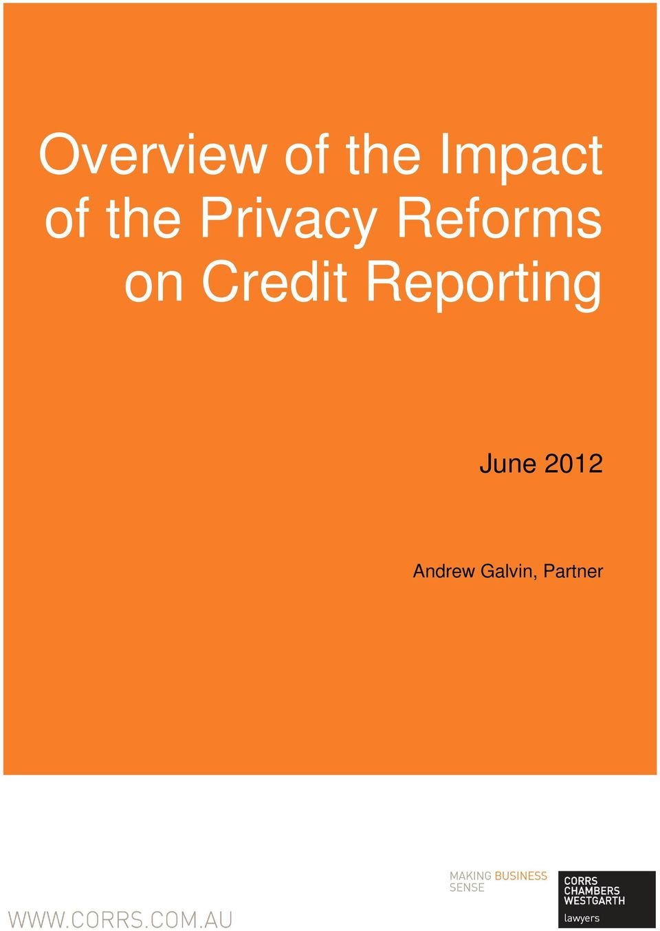 on Credit Reporting June