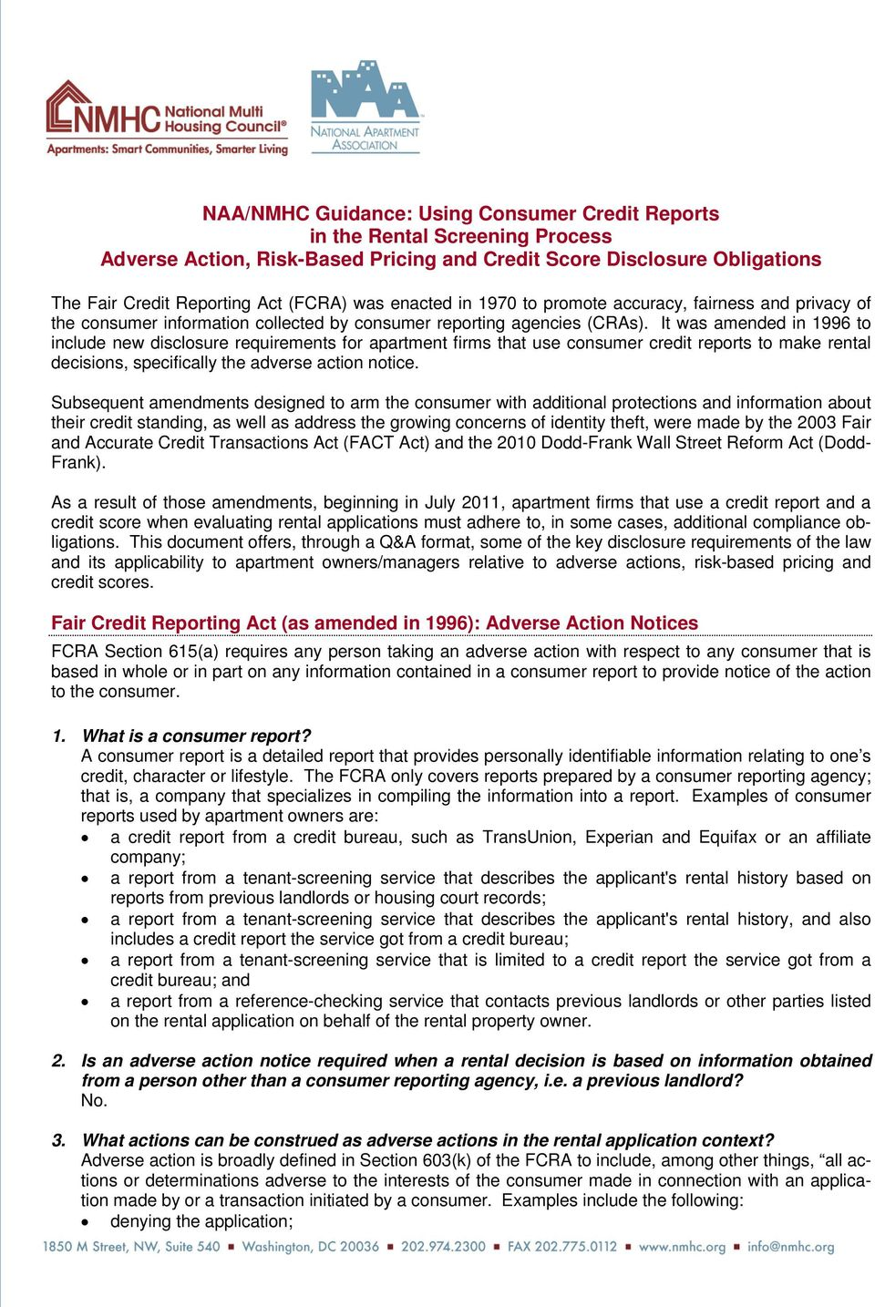 Adverse Action Notice >> Fair Credit Reporting Act As Amended In 1996 Adverse Action