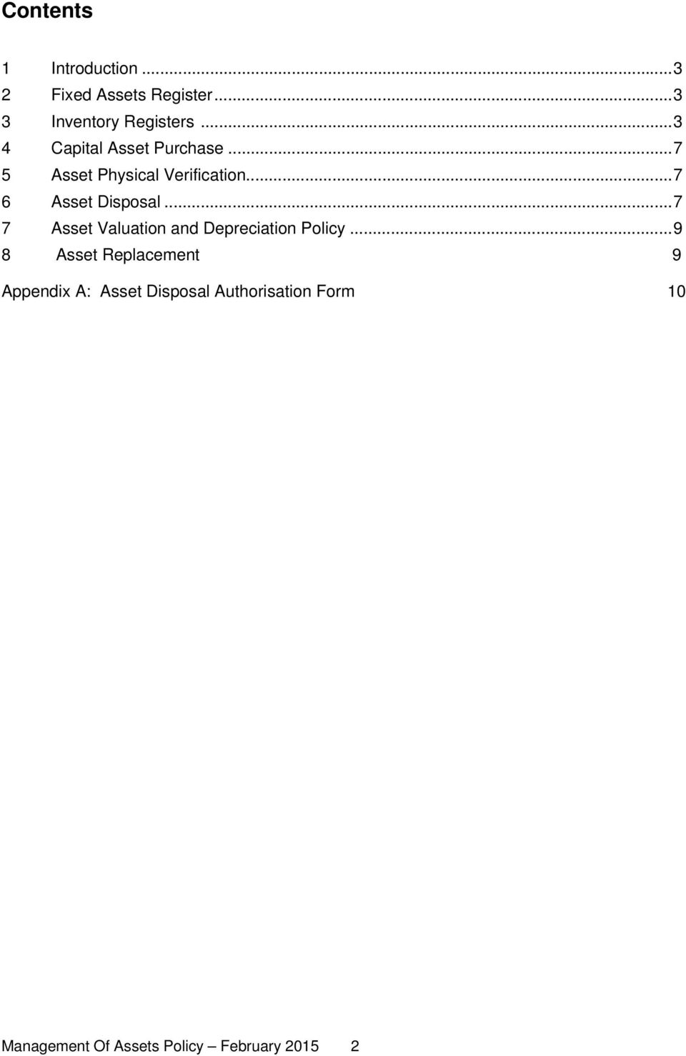 Management of Assets Policy - PDF