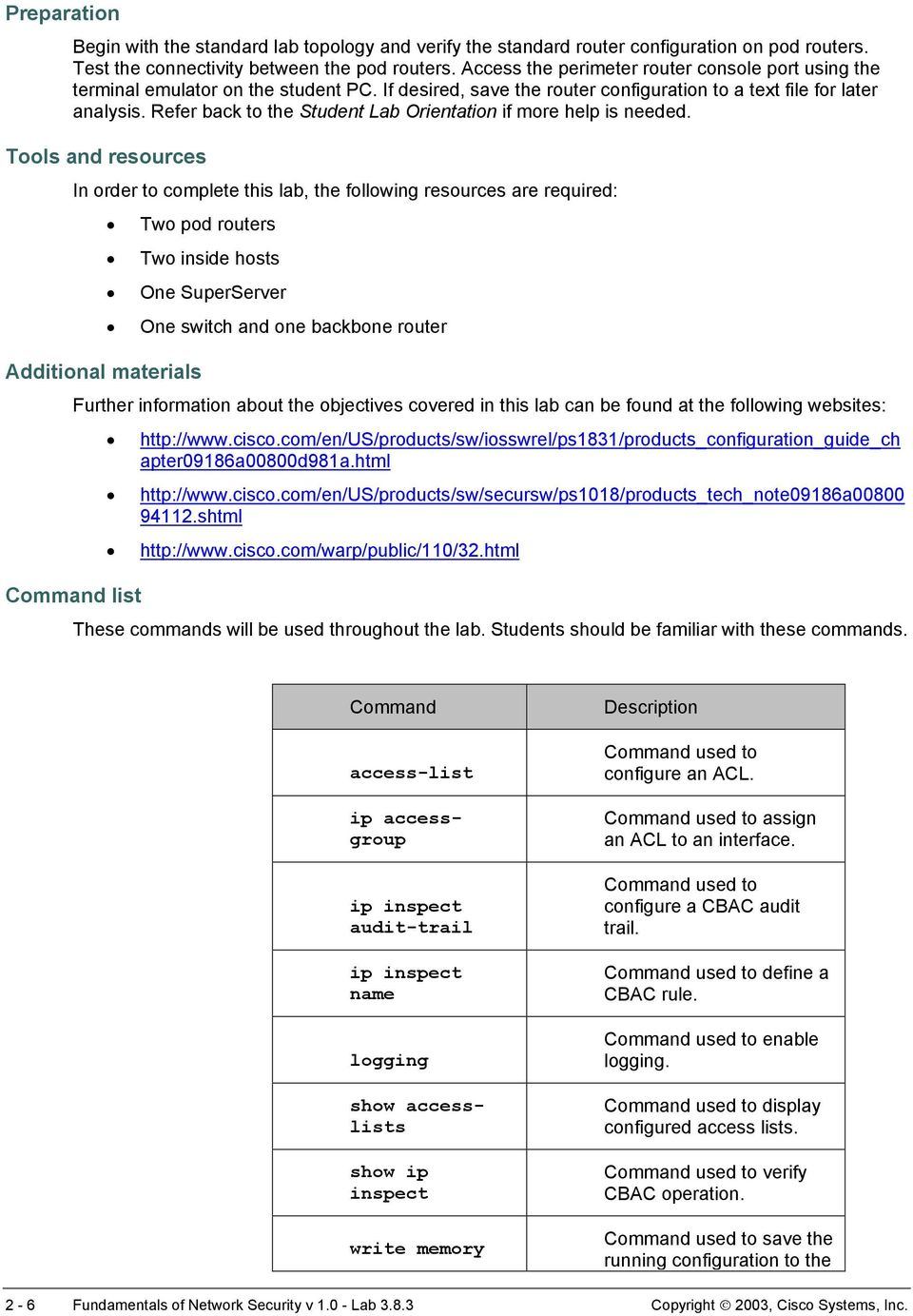Lab Configure Cisco IOS Firewall CBAC on a Cisco Router - PDF