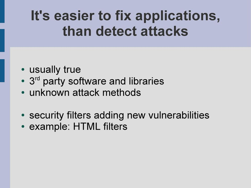 libraries unknown attack methods security
