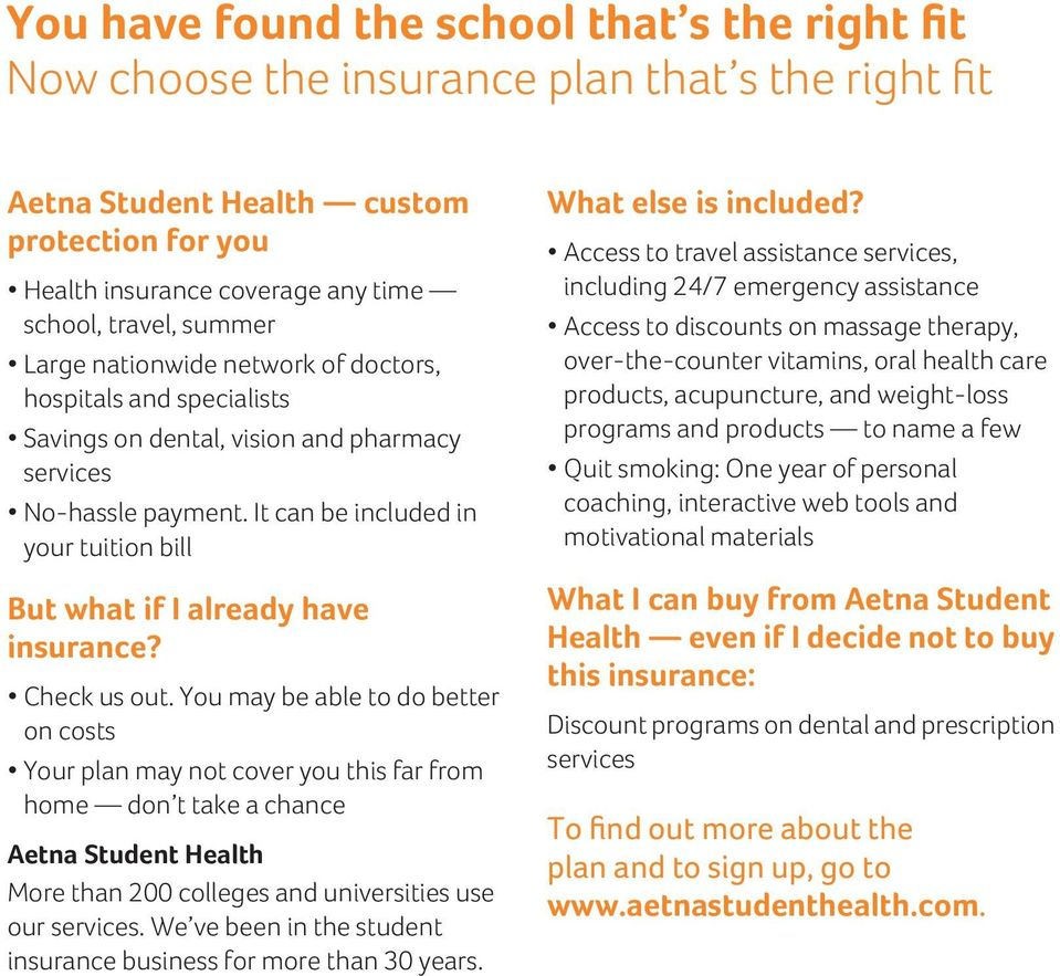 Aetna Student Health Sm Rochester Institute Of Technology S Choice
