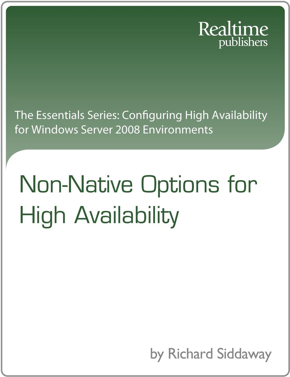 Windows Server 2008 Environments