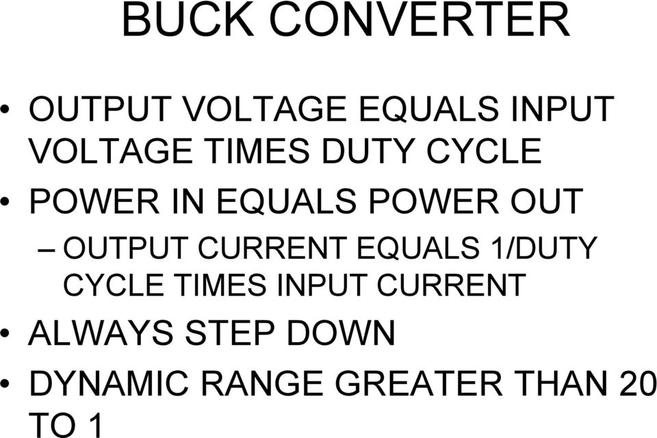 OUT OUTPUT CURRENT EQUALS 1/DUTY CYCLE TIMES