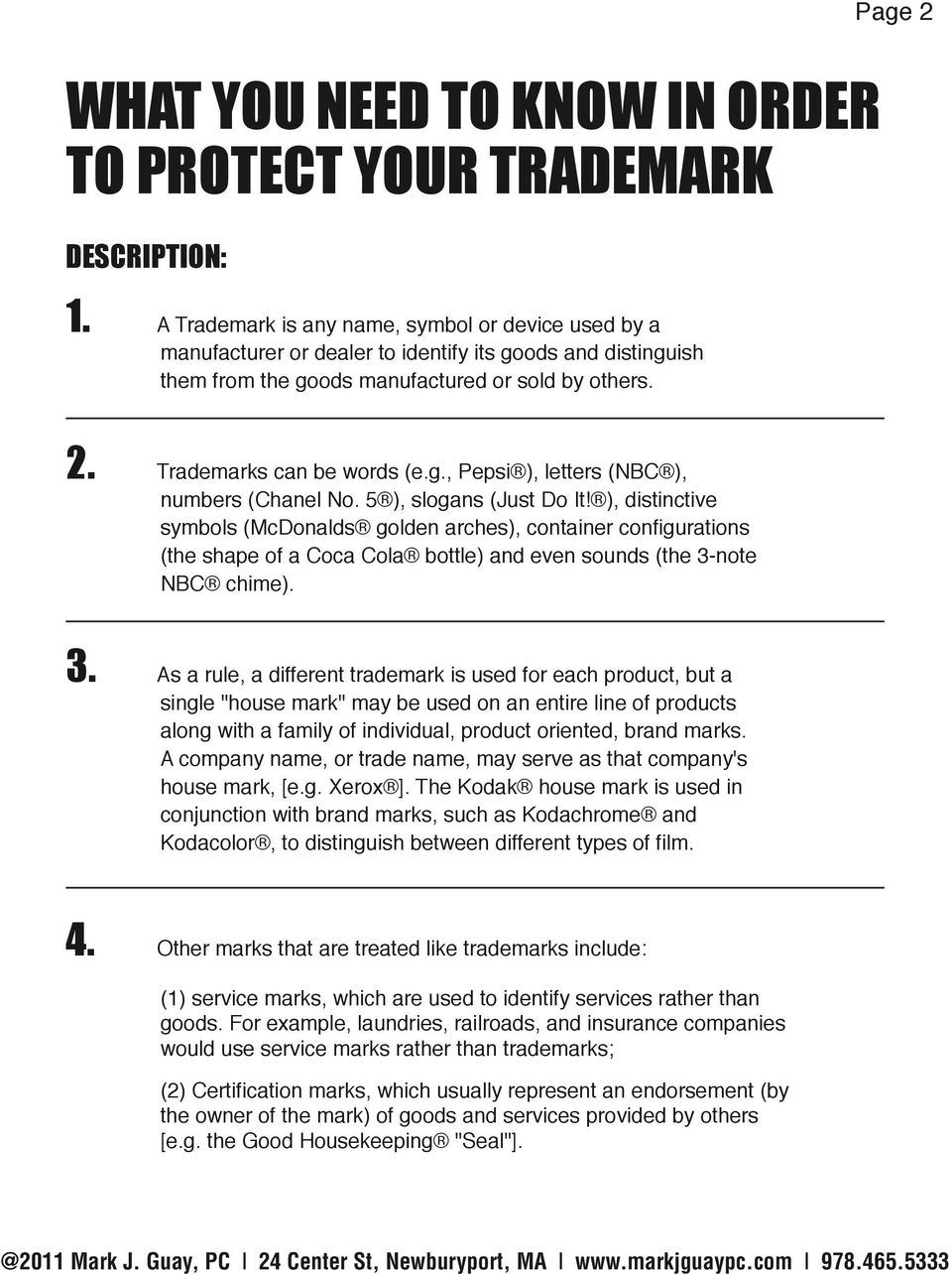 WHAT YOU NEED TO KNOW IN ORDER TO PROTECT YOUR TRADEMARK - PDF