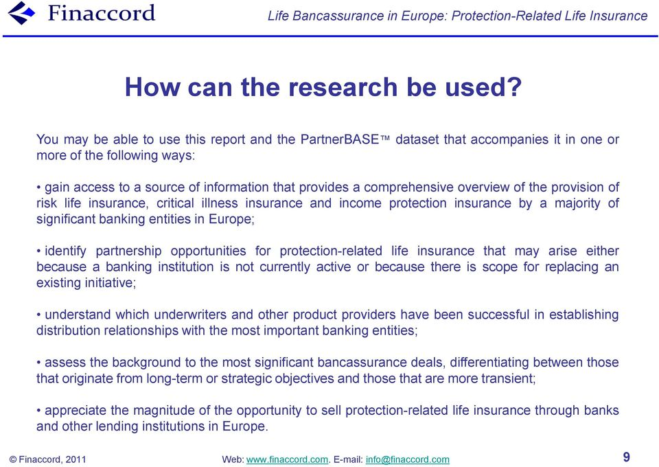 Life Bancassurance in Europe: Protection-Related Life