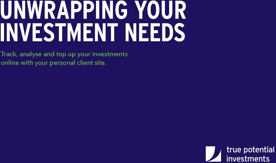 track analyse and top up your investments online with your personal