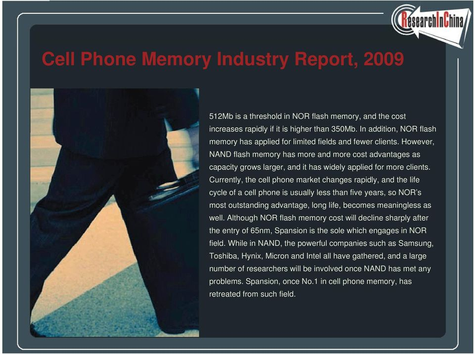 Cell Phone Memory Industry Report, PDF