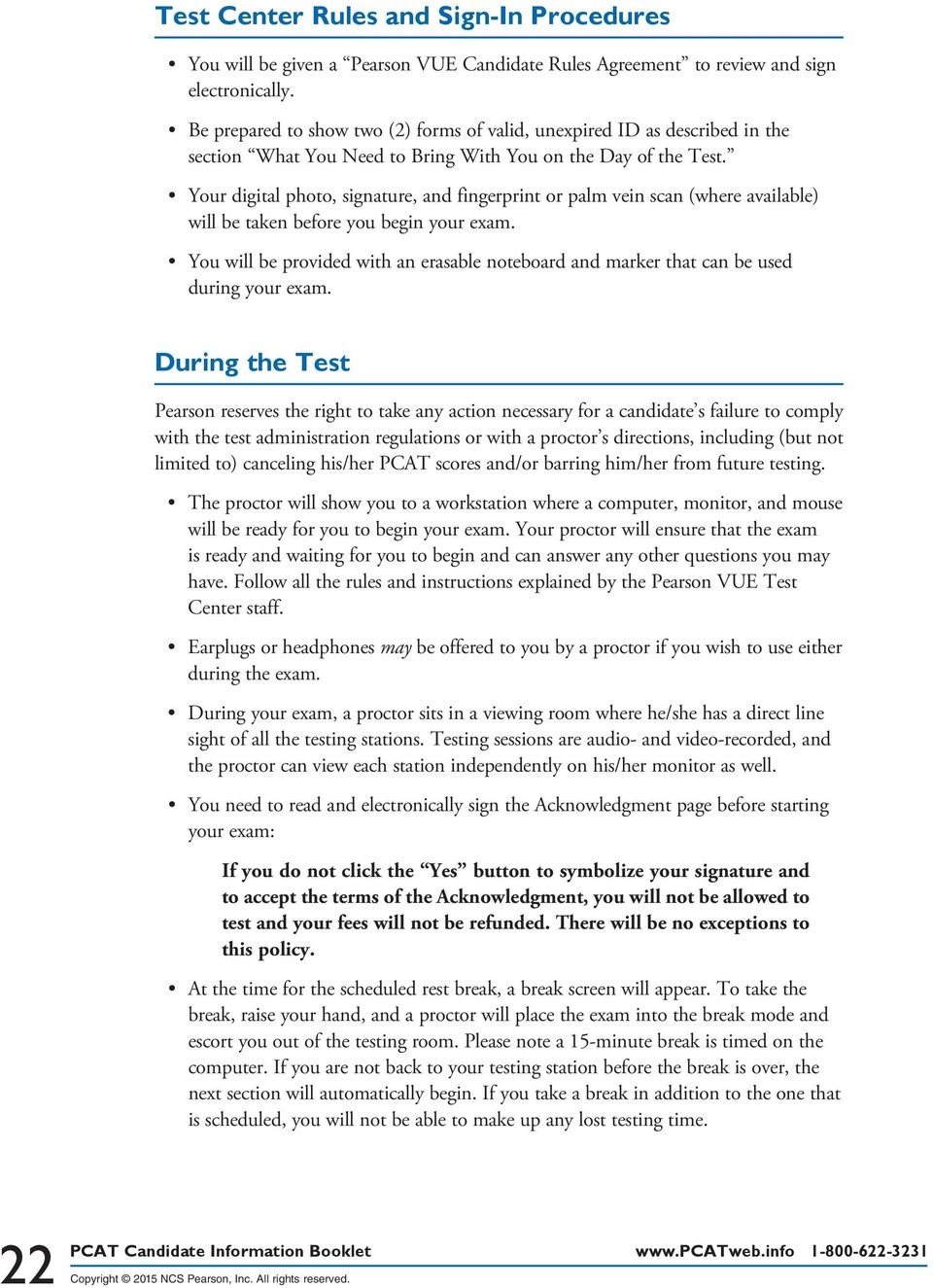 At The Pearson Vue Test Center Pdf