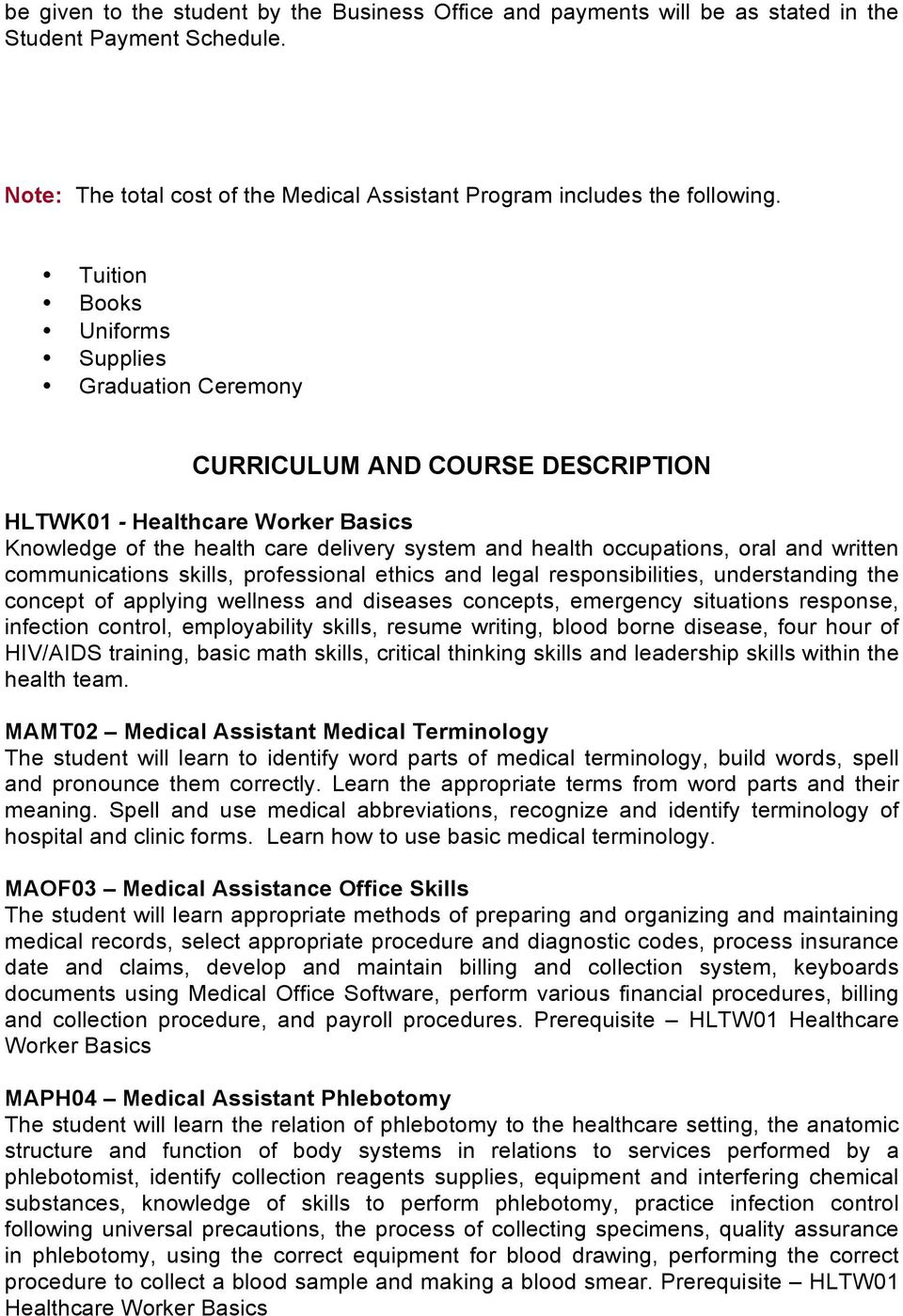 skills needed for medical assistant
