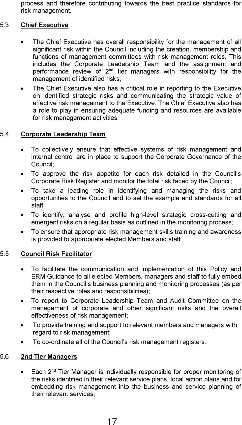 committees with risk management roles.