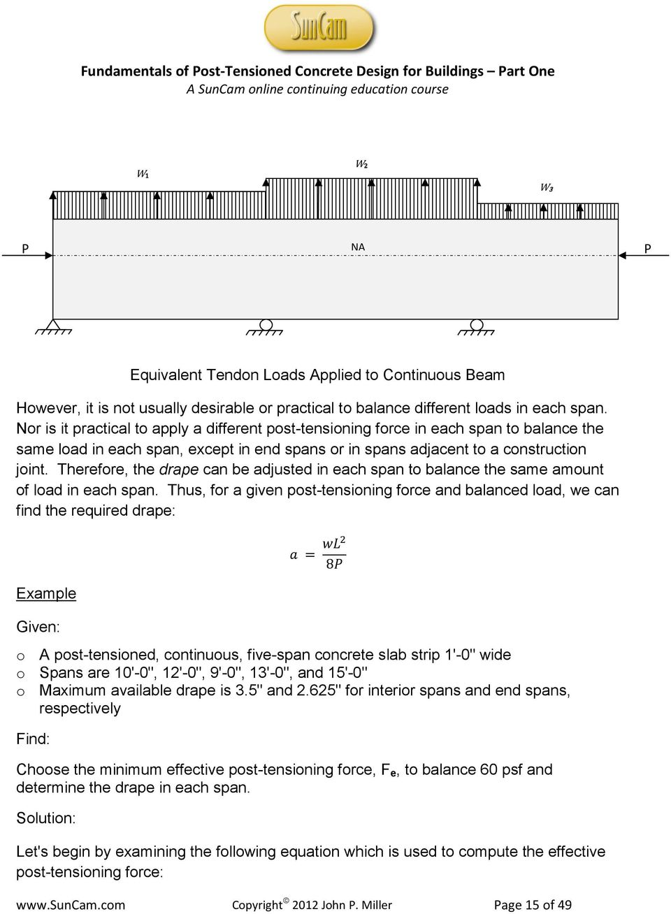 Fundamentals of Post-Tensioned Concrete Design for Buildings