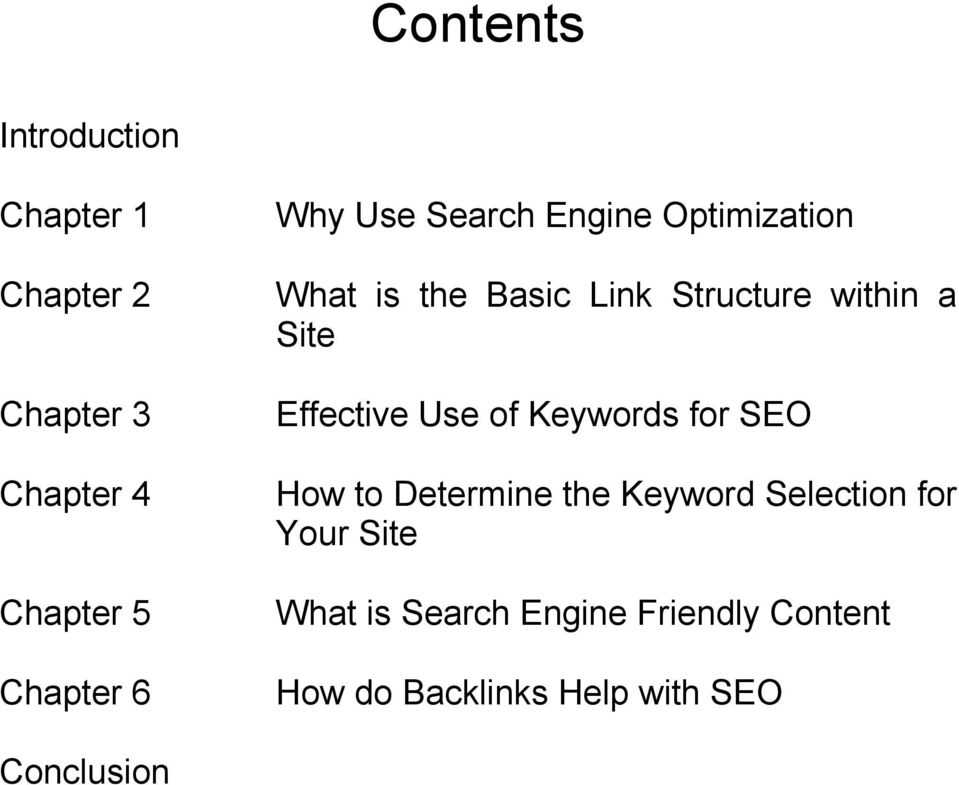 Effective Use of Keywords for SEO How to Determine the Keyword Selection for Your