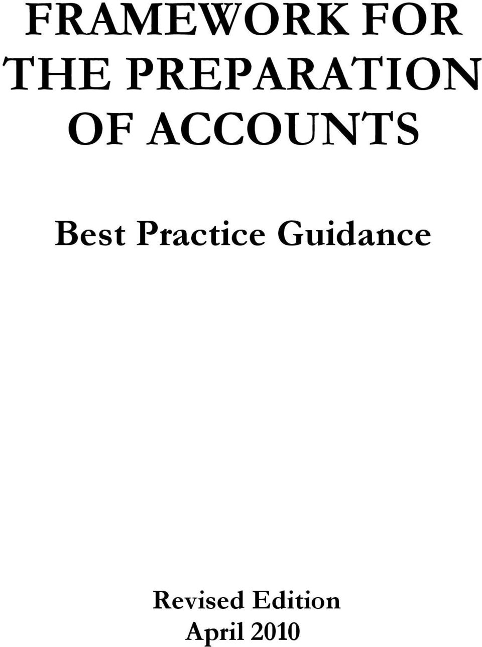 ACCOUNTS Best Practice