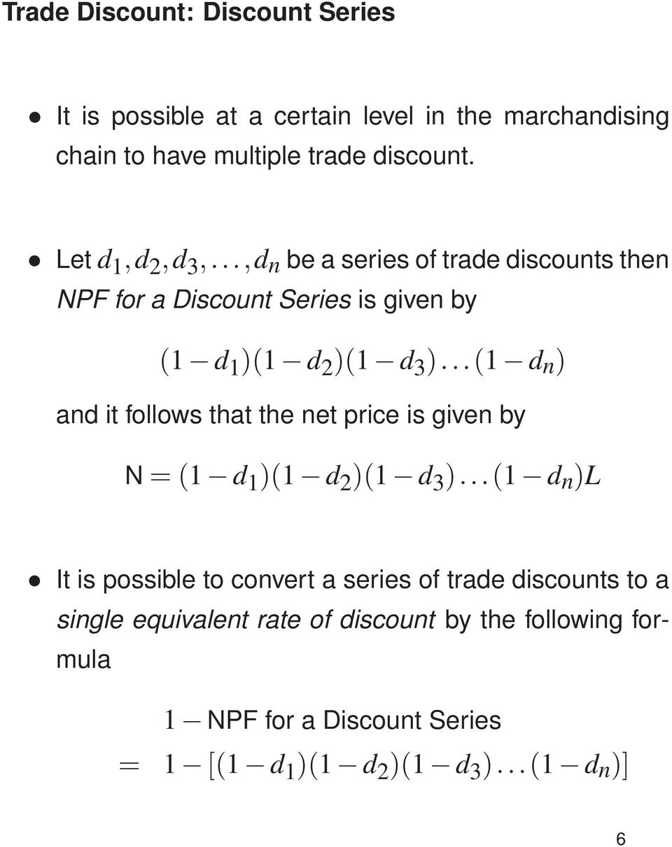 Trade Discount Cash Discount Markup And Markdown Yann Lamontagne Pdf Free Download