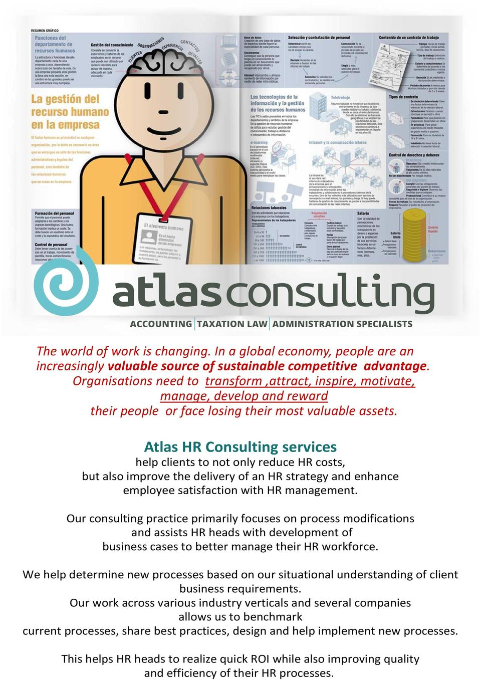 Atlas HR Consulting services help clients to not only reduce HR costs, but also improve the delivery of an HR strategy and enhance employee satisfaction with HR management.