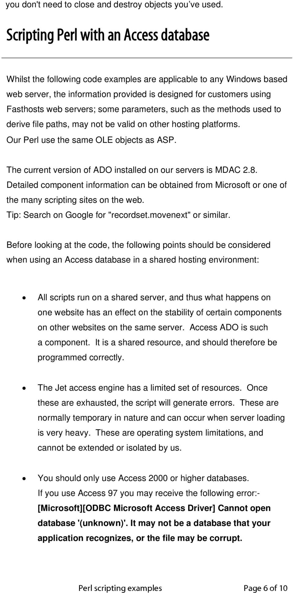 Contents  Perl scripting examples Page 1 of 10 - PDF