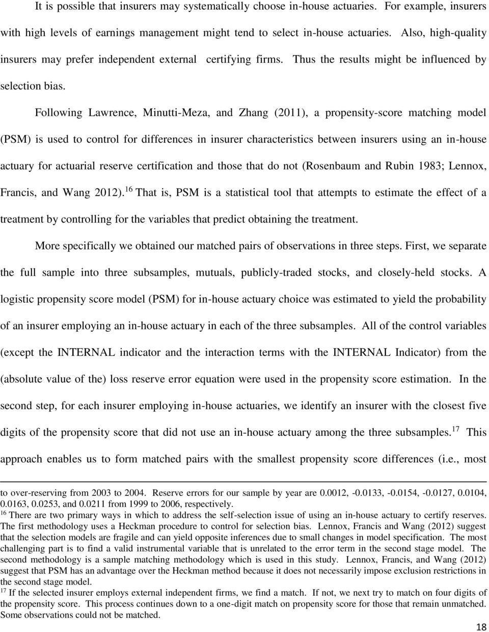 Loss Reserves And In House Actuary Certification Jiang Cheng Mary